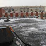 Очистка кровли от снега и наледи Авангардная 16