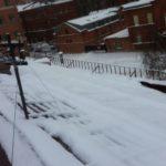Очистка кровли от снега и наледи Очистка кровли от снега и наледи Малая Пеньковая ул.