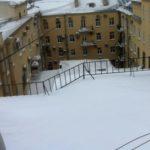 Очистка кровли от снега и наледи Малая Морская, Гороховая 9