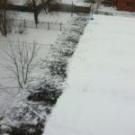 Очистка кровли от снега и наледи Рабфаковский переулок