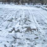 Очистка кровли от снега и наледи Бухарестская 35
